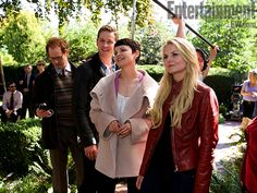 As the networks gears up for a new season, EW was on the scene to bring you exclusive behind-the-scenes glimpses of ''Parks and Rec,'' ''Once Upon a Time,'' ''Supernatural,'' and ''2 Broke Girls''
