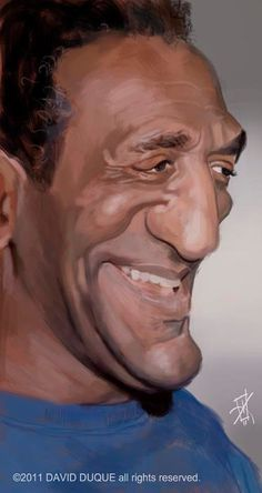 Bill Cosby by David Duque Cartoon Faces, Funny Faces, Cartoon Art, Famous Men, Famous Faces, Famous People, Caricature Artist, Caricature Drawing, Funny Caricatures