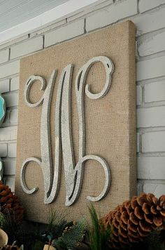 Dixie Delights: Glittered Monogram Canvas DIY