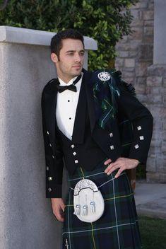 Prince Charlie 3 Button Vest Formal Kilt Rental Package