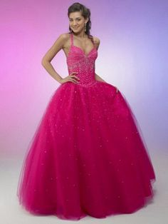 prom dresses prom dresses long prom dresses for teens 2014 2014 style ball gown straps beading sleeveless floor-length tullefuchsia prom dress/evening dress
