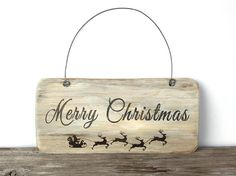 Merry Christmas Signs, Rustic Christmas Sign, wood sign, christmas decor by KatDeco