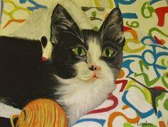 Ontem voltei ao meu gato... ou melhor à tela com um dos meus gatos pintado. O Jaqui... Pois... eu bem que tento pintar ou fazer o melhor que consigo. Reflexo dos meus parcos conhecimentos em pintura. Sim, sou amadora. Talvez tenha algum jeito. Mas no que t...
