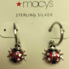Sterling Silver Ladybug Earrings NWT Tiny, cute ladybug earrings.  Never worn!🎀 Macy's Jewelry Earrings