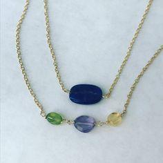 Aventurine Necklace Gemstone Necklace  Amethyst by BabyLovesBlue