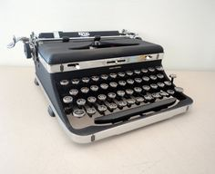 Royal Quiet Deluxe Typewriter from 1936 chrome trim on by KimBuilt, $295.00