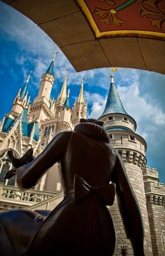 Walt Disney World, photo taken behind Cinderella fountain Disney World Resorts, Walt Disney World, Disney Pixar, Disney Nerd, Disney Songs, Disney Theme, Disney Vacations, Disney Girls, Disney Love