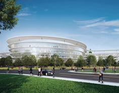 The Central & Wolfe Campus | Sunnyvale, California, USA | HOK's team embraced the vision of developers Landbank, Cassidy Turley and CB Richard Ellis to transform an existing 20-acre business park into a futuristic tech office campus. The buildings, which feature open floor plans, will be easily divisible for tenants.