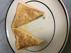 Grilled cheese with American and pepper jack cheese on fresh bakery white bread Perfect Grilled Cheese, Pepper Jack Cheese, White Bread, Grilling, Bakery, Stuffed Peppers, Fresh, American, Ethnic Recipes