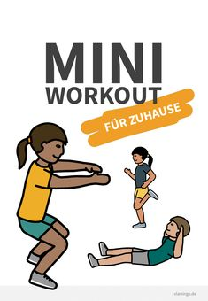 Mini workout for at home - vlamingo - teaching material in the subjects multidisciplinary & daycare - Schule  allgemein Mini Workouts, At Home Workouts, Marathon Training, Kettlebell Swings, Pediatric Ot, Outdoor Workouts, Yoga Lifestyle, Exercise For Kids, Kids Sports