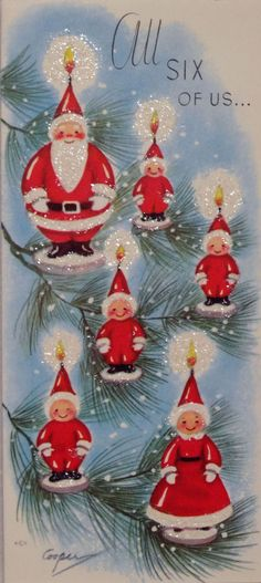 50s Marjorie Cooper Vintage Christmas Card-Greeting