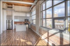 #Feather Factory #Lofts, #Toronto Bedroom Corner, Exposed Brick Walls, Wood Ceilings, Stainless Steel Appliances, Lofts, Ph, Toronto, Feather, The Originals