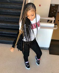 3 Box Braids Hairstyles for Black Women Box Braids Hairstyles, Lemonade Braids Hairstyles, My Hairstyle, Hairstyles 2018, Protective Hairstyles, Hairstyles Pictures, Cornrolls Hairstyles Braids, Hair Pictures, Black Girl Braids