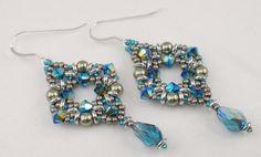 Instructions for Diamond Flash Earrings  Beading Tutorial