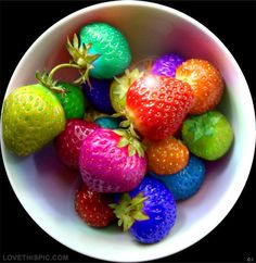 colored strawberries food and drinks food fruit strawberries