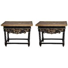 Pair of 17th Century William and Mary Period Console Tables