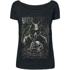 """Maglietta donna a maniche corte nera """"Goat With Skull"""" dei #Volbeat."""