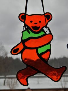 Stained Glass Grateful Dead Dancing Bear by RedfordGlassStudio, $12.50
