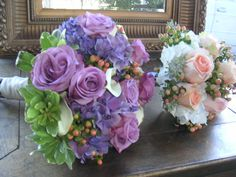 Lavender Rose & Hydrangea Bridal Bouquet by Aria Style / www.ariastyle.com / https://www.facebook.com/AriaStyle