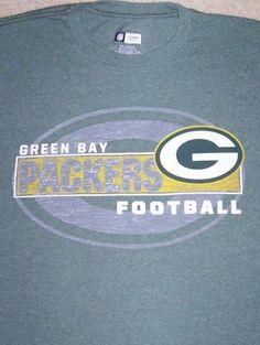 Green Bay PACKERS NFL Football Shirt Adult Large Green NFC Lambeau Wisconsin #NFLTeamApparel #GreenBayPackers