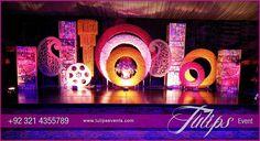 Bollywood night Mehendi Theme Stage decoration ideas in Pakistan 08