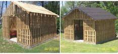 How to Build a Pallet Shed | Home Design, Garden & Architecture Blog Magazine
