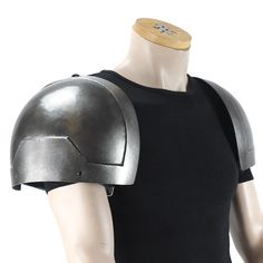 Polyurethane dwarven style shoulder armour for LARP, TV and Film Larp Armor, Pauldron, Shoulder Armor, Character Inspiration, Riding Helmets, Armour, Cosplay, Metal, Style
