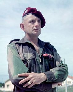 "Lt Gen Marcel ""Bruno"" Bigeard was a French paratrooper best remembered for his service in Indochina and Algeria. He was a dominating influence on French military thinking about unconventional warfare. He was one of the most decorated French soldiers ever. Marcel, Leiden, French Armed Forces, First Indochina War, Colonial, Sniper Training, French Foreign Legion, Vietnam War Photos, French History"
