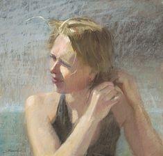 "Sally Strand, ""Breeze,"" ca. 2010. pastel"