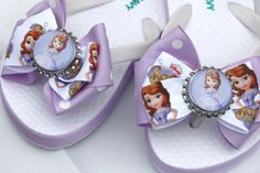 Sofia the First Flip Flops by bowsforme on Etsy, $14.99
