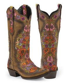 Look what I found on #zulily! Tan Sweetgrass Leather Cowboy Boot #zulilyfinds