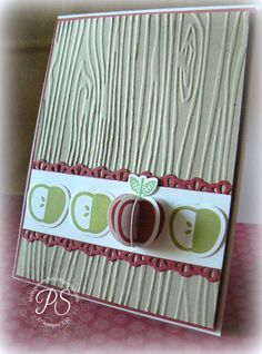 Apples to Apples Card - Would be cute invite to play the game and bring fav apple dish to share!