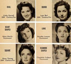 1940s-Hair-and-Makeup-Secrets--for-your-Face-Type vintage fashion style make up and hair 40s photo print ad