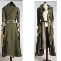 Khaki Green Coat  Urban Femme Guerrilla Aristocrat by lummedesigns, €750.00