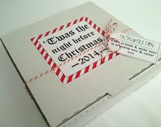 A Christmas Eve Box. Filled with lovely treats, reindeer food and a Nice list certificate. A perfect Night before Christmas :-) https://www.facebook.com/sugarcoatedevents