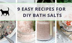 9 easy recipes for DIY bath salts: Time to soak! Detox Lymphatic System, Easy Recipes, Easy Meals, Vitamin E Capsules, Sweet Potato Brownies, Diy Spa, Bath Salts, Healthy Desserts, Soap Making