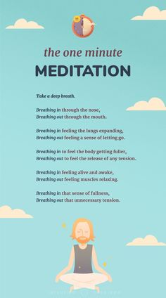 Practice meditation in as little as 60 seconds.