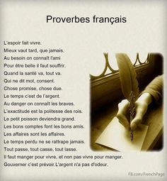 Proverbes francais