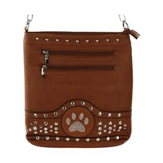 Full of organizing potential and constructed of warm faux leather, this dazzling purse is stylish reflection of a cause close to your heart! A sparkling paw print accent the front of the purse puts your love for animal rescue on display.