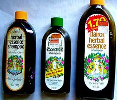 1974, 1977 and 1979 Clairol Herbal Essence shampoo bottles by mankatt, via Flickr