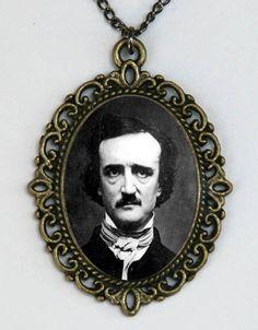 Edgar Allen Poe Necklace the raven gothic victorian by che655, $8.00
