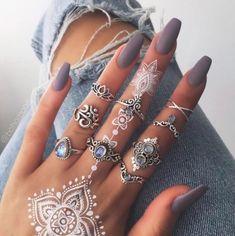Lavender nail polish and bohemian jewelry #nails #nailpolish #bohemian
