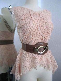 Crochet Pattern - Lithe and Pierced Crochet Dress, Shawl or Skirt PDF Pattern - SWL04272014-01 - Instant Download