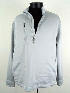 Callaway 1/4 Zip Pullover Sweater Jacket Silver Mens Size Large Golfing  #Shopping #Style #Fashion http://www.ebay.com/itm/-/281370823456?roken=cUgayN via @eBay
