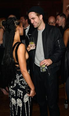 Robert Pattinson and FKA Twigs at Brit Awards Afterparty | POPSUGAR Celebrity