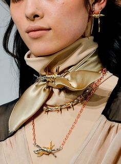 Rodarte FW 13/14 gorgeous brooch for the scarf!!! and love how it matches the necklaces wow