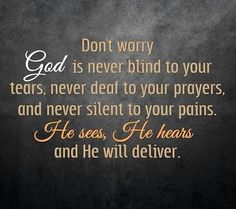 Don't worry. .