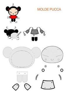 Feitos de feltro com moldes! | Artesanato & Humor de Mulher