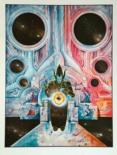 Philippe Druillet 'Birth of a Galaxy' 1980 scifi cover art