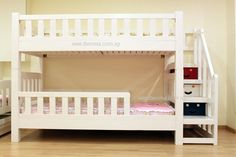 BL21 convertible bunk bed with staircase (curtains,mattress sold separately)